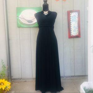 Boden Black Sleeveless Maxi Dress Size 8R.